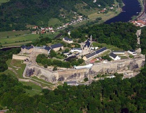 Luftaufnahme Festung Königstein im Oktober 2008